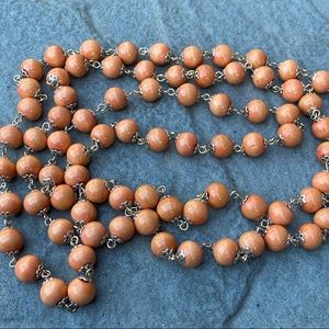EUC Wood Bead lightweight extra long necklace